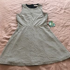 Loft dress with black and white pattern